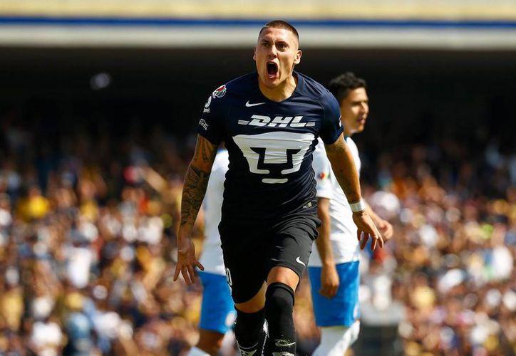 Nicolás Castillo, futbolista de Pumas, fue clave en la victoria de los Universitarios sobre el Cruz Azul, el pasado domingo.(Foto tomada de Facebook/Pumas