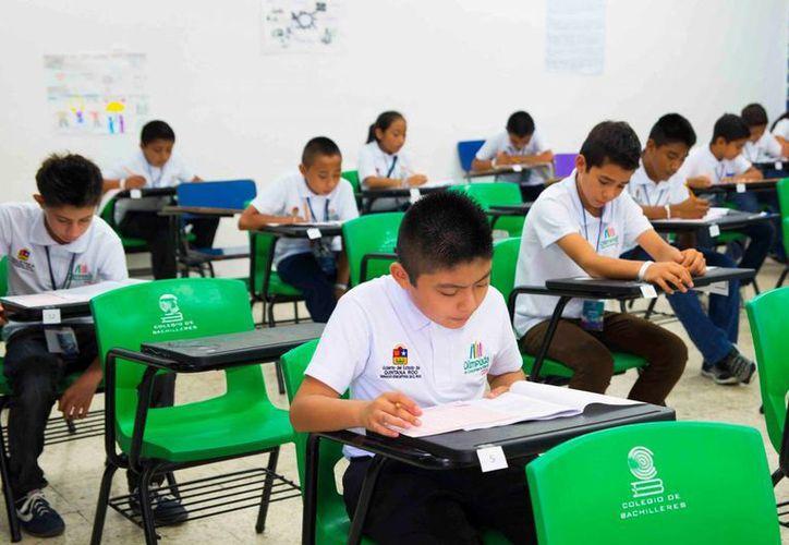 140 niños participaron ayer en la Olimpiada del Conocimiento Infantil. (Ángel Castilla/SIPSE)