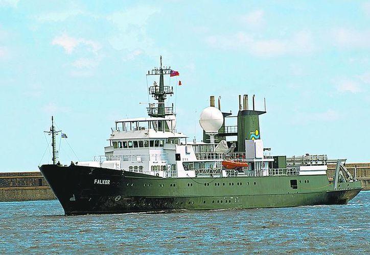 El buque Falkor del Instituto Oceanográfico Schmidt inició operaciones en 2013, y ha sido catalogado por la revista Nature como un importante avance de la ciencia a escala mundial. (Milenio)