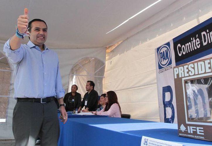 Ernesto Cordero votó en la casilla ubicada en la delegación Cuajimalpa. (Notimex)