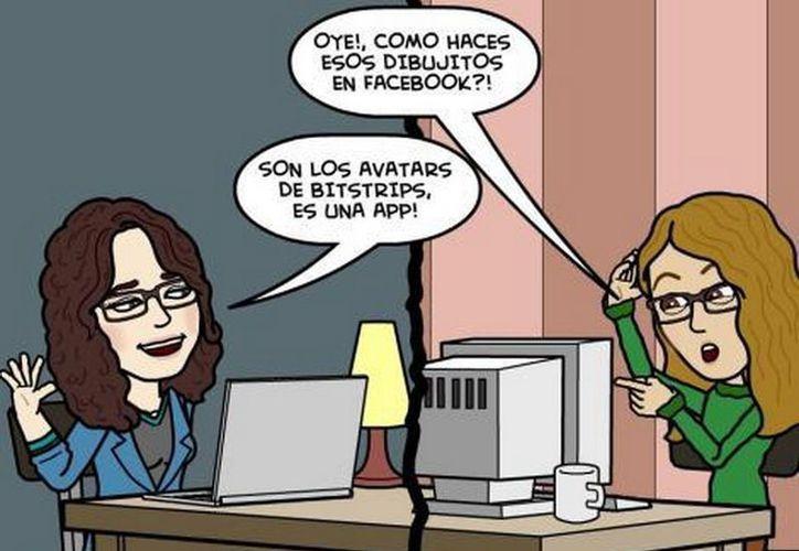 Para crear un avatar, los usuarios de Facebook deben teclear 'Bistrips' en el buscador de la red social. (MILENIO)