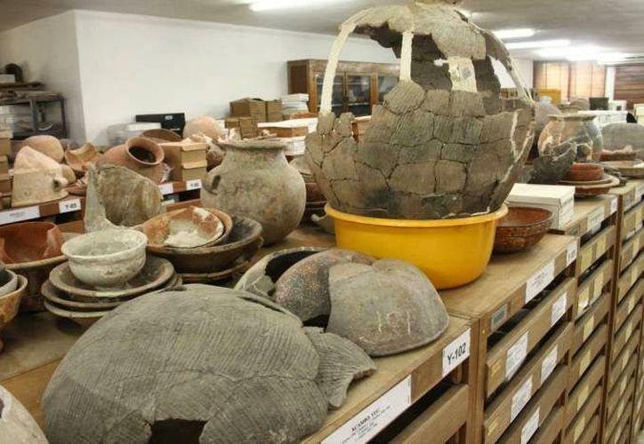 Desde su recuperación todas las piezas se concentran en la ceramoteca del Centro de Antropología e Historia, en Yucatán. (SIPSE)