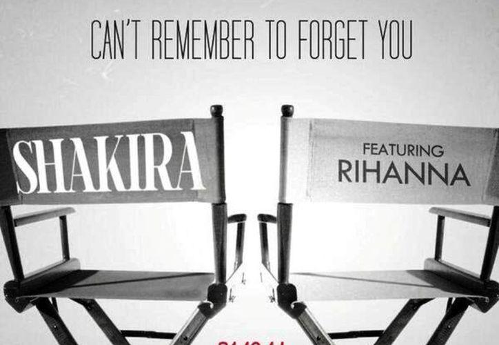 Shakira avisó desde hace una semana el lanzamiento del dueto con Rihanna y presentó una portada previa con el nombre de la canción y dos sillas como las que usan los directores de cine, en cuyos respaldos aparecen los nombres de las cantantes. (@shakira)