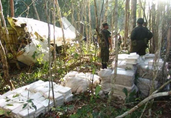 Localizan cargamento de droga en una comunidad maya. (SIPSE)