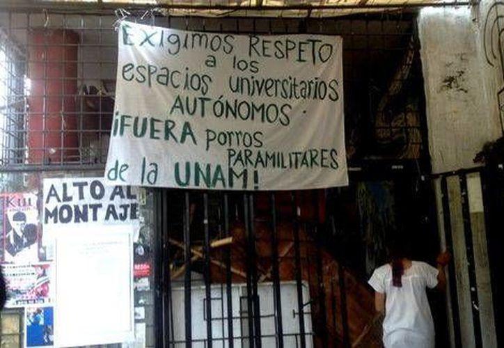 El auditorio Che Guevara fue ocupado tras un violento enfrentamiento el pasado tres de marzo. (Milenio)