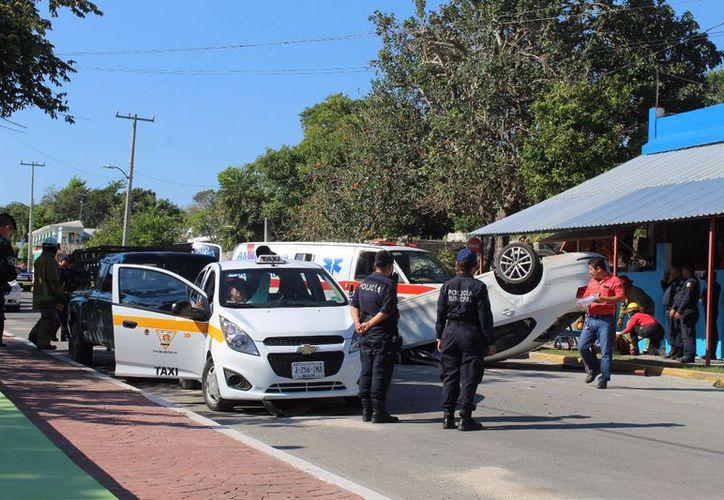 El accidente se registró en la colonia Centro del poblado de Calderitas. (Redacción)