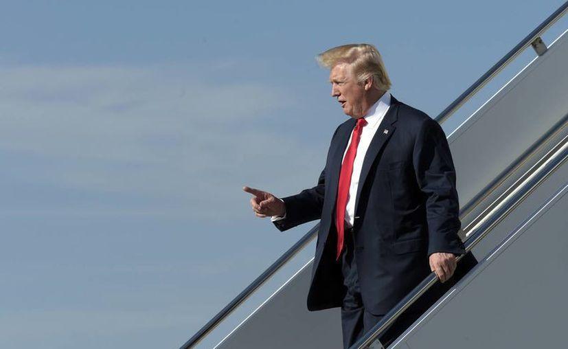 El presidente norteamericano Donald Trump estará fuera de la Casa Blanca este fin de semana. (AP/Susan Walsh)
