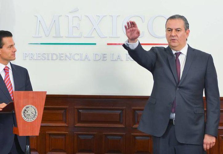 Peña Nieto designó este viernes a Gerardo Gutiérrez Candiani como titular de la Autoridad Federal para el Desarrollo de las Zonas Económicas Especiales. (Presidencia)