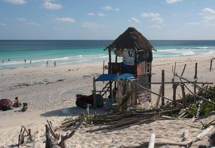 La playa pública San Martin está localizada en la zona oriente. (Julián Miranda/SIPSE)