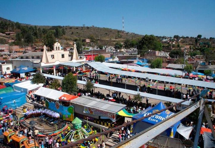 Vista aérea del centro de Villa Jiménez, Michoacán, municipio que hoy dejó por unas horas la tranquiladad, tras conocerse la noticia de que 3 funcionarios de la administración municipal están en manos de la justicia. (jimenezmich.gob.mx)