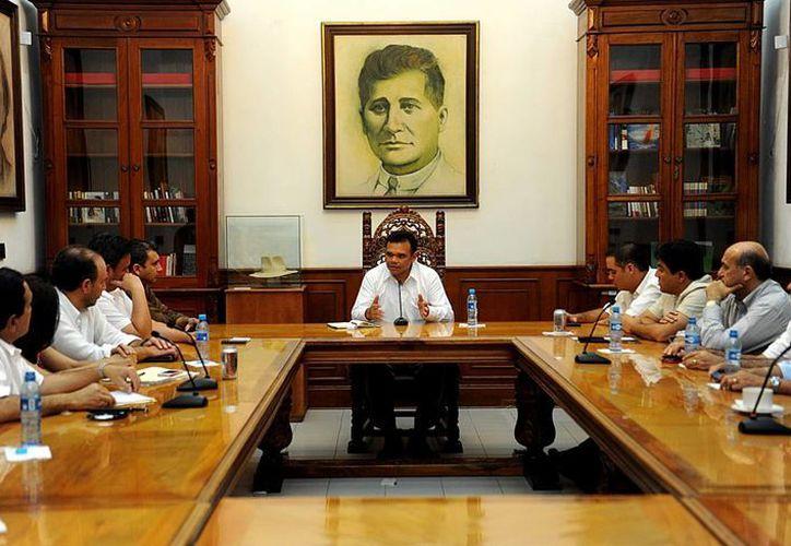 Hace unos días, el gobernador Rolando Zapata Bello se reunió con el Consejo Coordinador Empresarial. (Milenio Novedades)