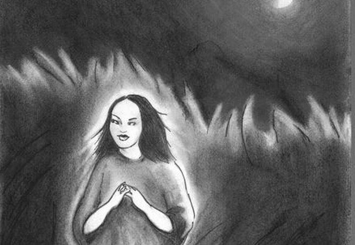 Retrato hablado de la niña fantasma que han visto conductores en la carretera federal Mérida-Uxmal. (Jorge Moreno/SIPSE)