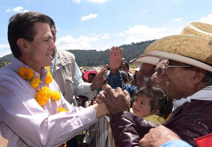 Peña Nieto aseguró que la Cruzada Nacional contra el Hambre ya arrojó sus primeros resultados. (Presidencia)