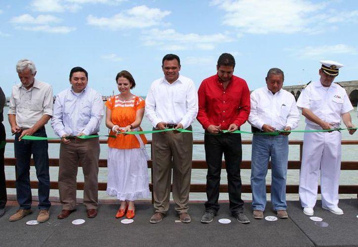El Gobernador Rolando Zapata Bello inauguró esta importante obra. (SIPSE)