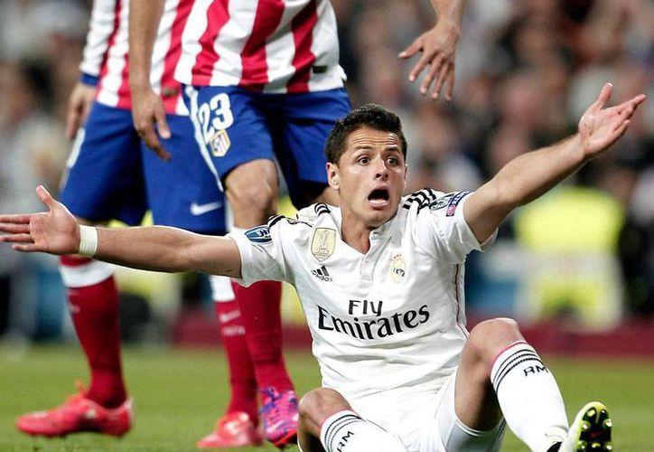 Muchos se preguntaron por qué Javier 'Chicharito' Hernández (foto), todavía jugador del Real Madrid, fue marginado de la Copa América. Según el representante del jugador, Eduardo Hernández, la decisión fue de la Femexfut. (Notimex/Archivo)