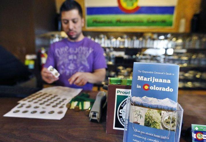 Imagen de un dispensario de venta de marihuana en Colorado. (Archivo/Agencias)