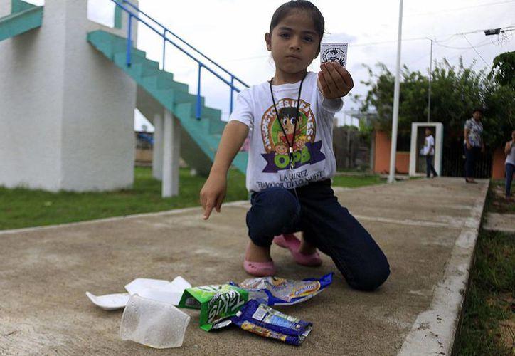 Niños tomen consciencia del cuidado del medio ambiente. (Redacción/SIPSE)