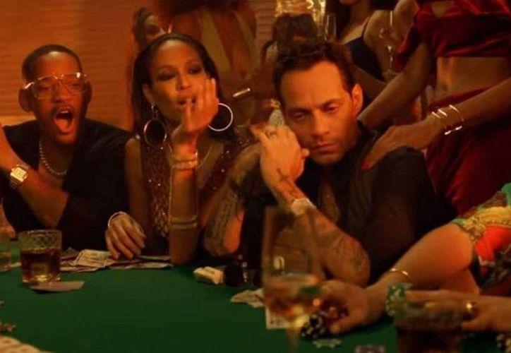 Marc Anthony, Will Smith y Bad Bunny juntos en video musical. (Foto: Captura de video)