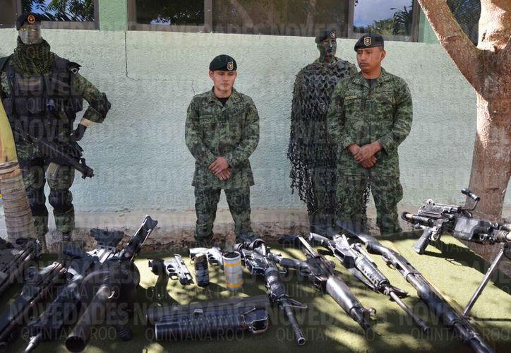 El mayor aseguramiento de armas se registró en el municipio de Benito Juárez. (Benjamín Pat/SIPSE)