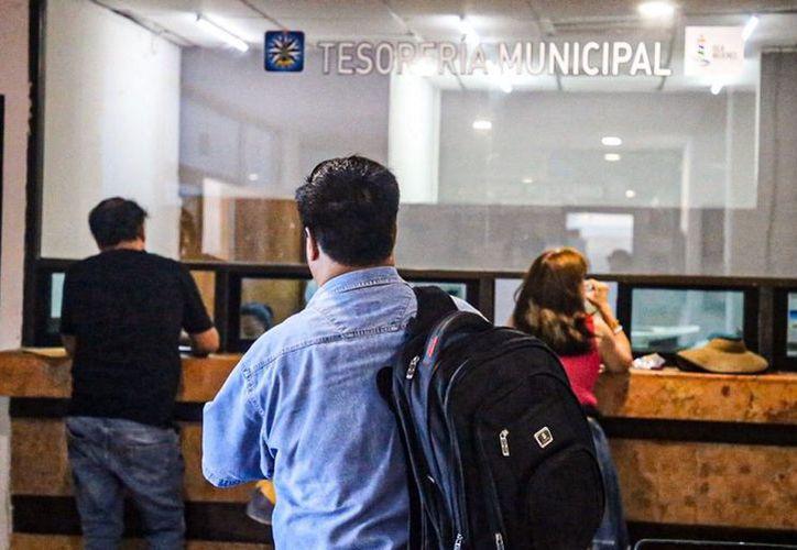 La población podrá realizar los pagos en las cajas del Palacio Municipal. (Cortesía)
