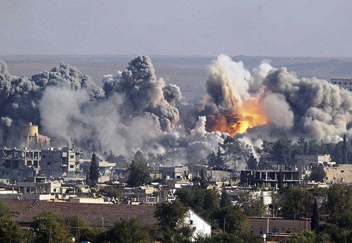 Sobre la cifra de personas que han huido de Ghouta Oriental. (AFP)
