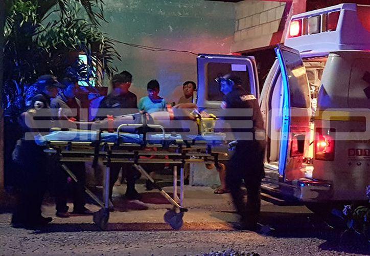 El accidentado fue trasladado al  hospital 'Juárez'. (SIPSE)