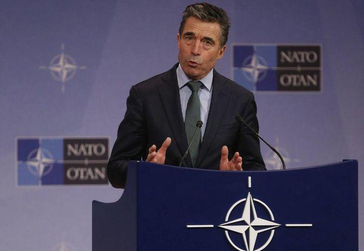 El secretario general de la OTAN, Anders Fogh Rasmussen, indicó que Rusia ha ignorado el llamado de la comunidad internacional. (EFE/Archivo)
