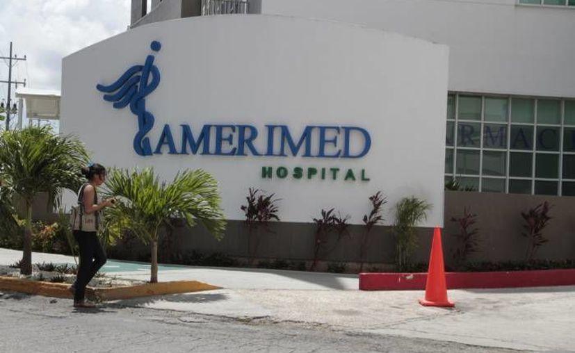 El infante fue trasladado  a las instalaciones del hospital Amerimed. (Redacción/SIPSE)