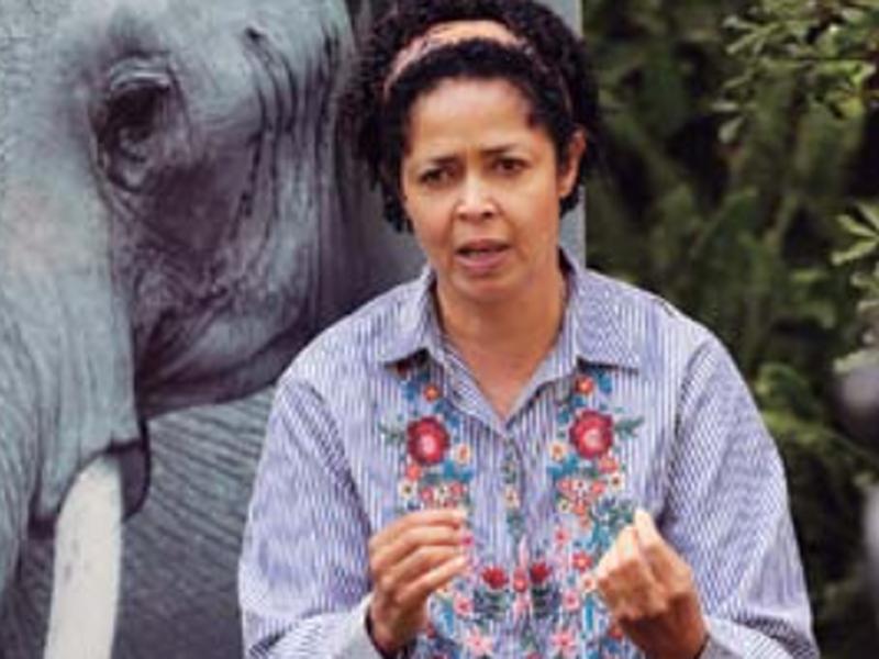 Paula Kahumbu, chief executive Officer of wildlifeDirect speaks to the Associated Press in nairobi, Kenya. (AP)