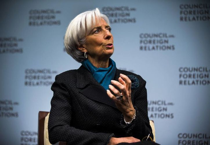 Imagen de la directora gerente del Fondo Monetario Internacional (FMI), Christine Lagarde. El FMI anticipó un crecimiento de 3.2 por ciento para el país en 2015.(EFE/Archivo)
