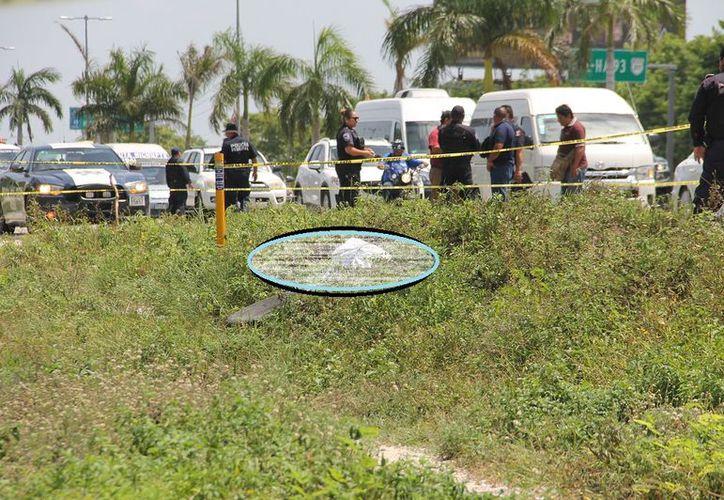 El cuerpo sin vida fue encontrado alrededor de las 14 horas, cubierto por una sábana de color blanco y encintado. (SIPSE)