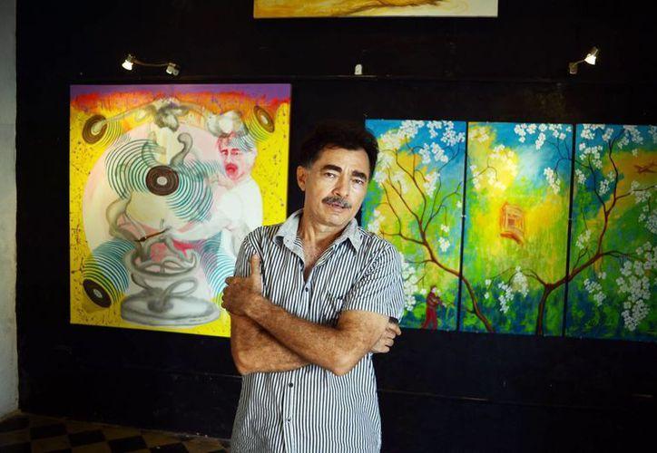 """El pintor David Sierra inaugura mañana viernes a las 20:00 horas la exposición """"Aullidos de color por el paisaje"""" en la galería """"La Escalera"""". (Milenio Novedades)"""