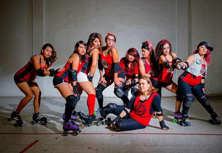 La primera Copa del Caribe de 'Roller Derby' se llevará a cabo en la avenida López Portillo. (Facebook: Reinas Rojas Cancún)