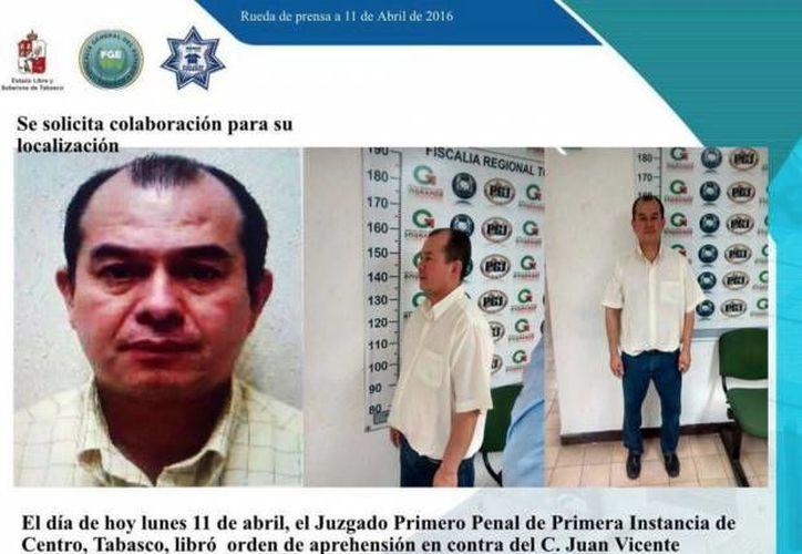 Juan Vicente Hernández López está siendo buscado por las autoridades tabasqueñas por el delito de pederastia. (Fiscalía del Estado de Tabasco)