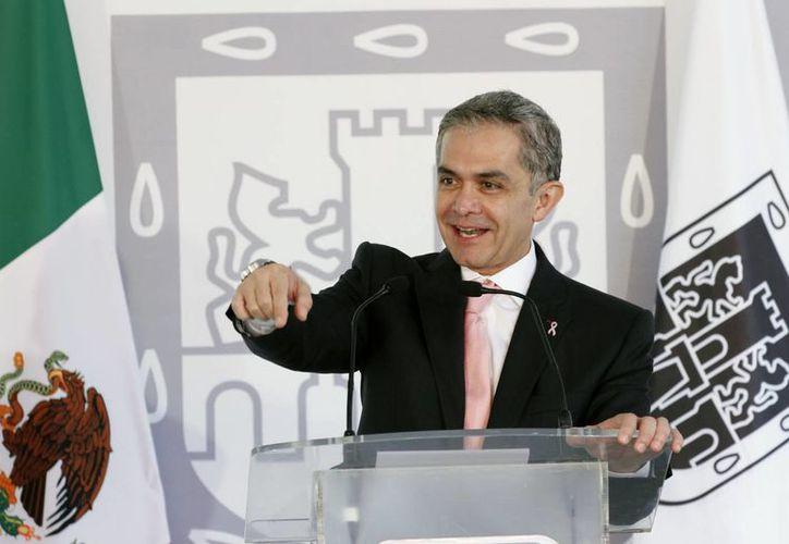 El jefe de Gobierno del DF, Miguel Angel Mancera, fue sometido a una intervención quirúrgica este viernes. (Foto de archivo de Notimex)