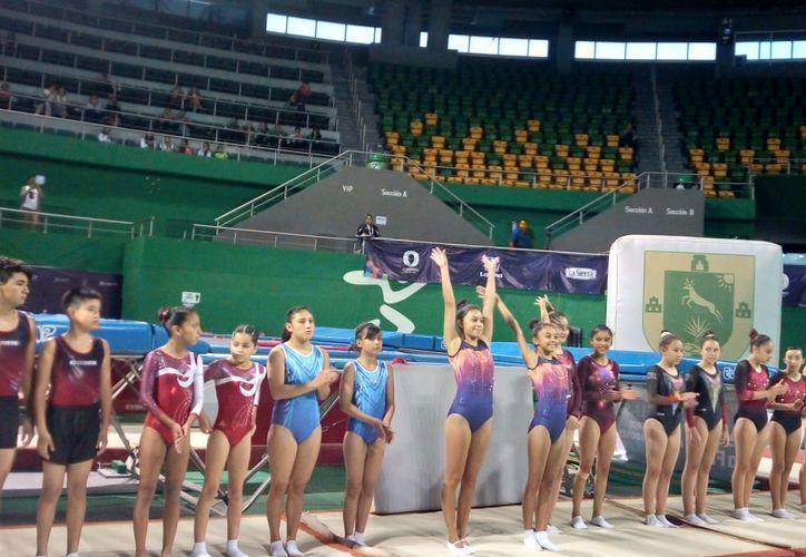 Las gimnastas yucatecas mostraron porqué son favoritas en todos los certámenes en los cuales participan(Foto:Novedades Yucatán)