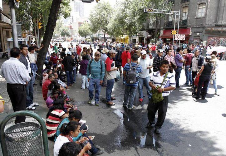 Movilización de maestros de la CNTE en la Ciudad de México contra la reforma educativa. (Foto de contexto de Notimex)