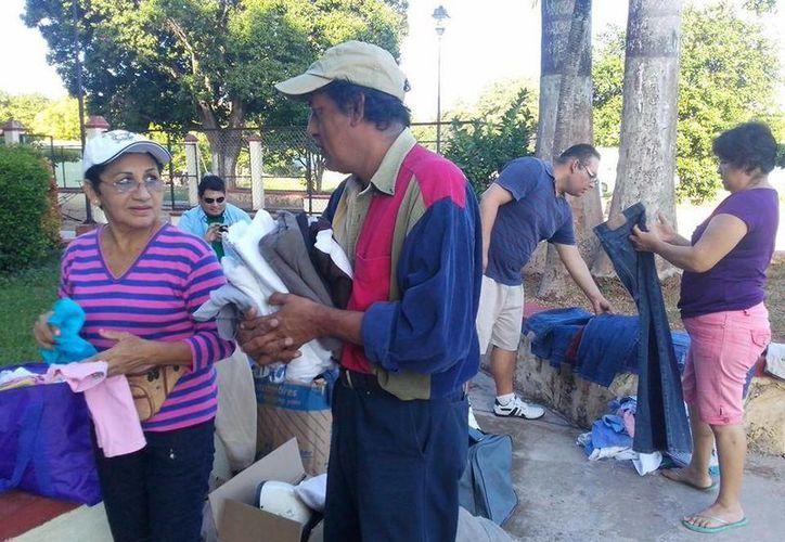 Vecinos de Yaxché de Peón se benefician de una iniciativa de colonos de Mérida. (Cortesía)