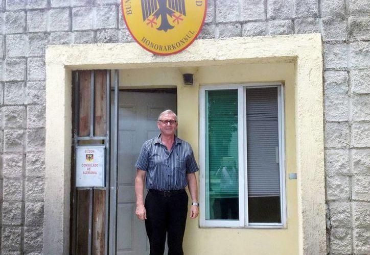 Johannes Rommel se lleva recuerdos y experiencias gratificantes de Yucatán. (Milenio Novedades)