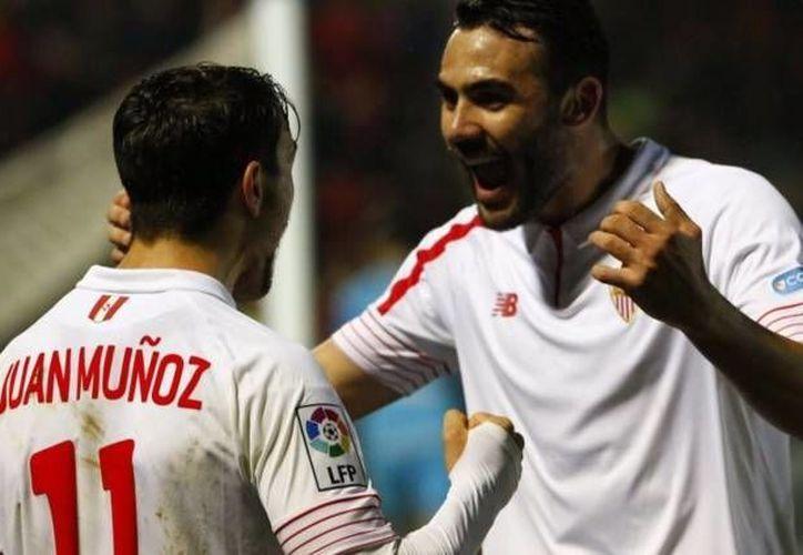 El Sevilla accedió a las semifinales de la Copa del Rey (5-0 global), instancia donde ya están el Barcelona, Valencia y el Celta de Vigo. (Twitter: SevillaFC)