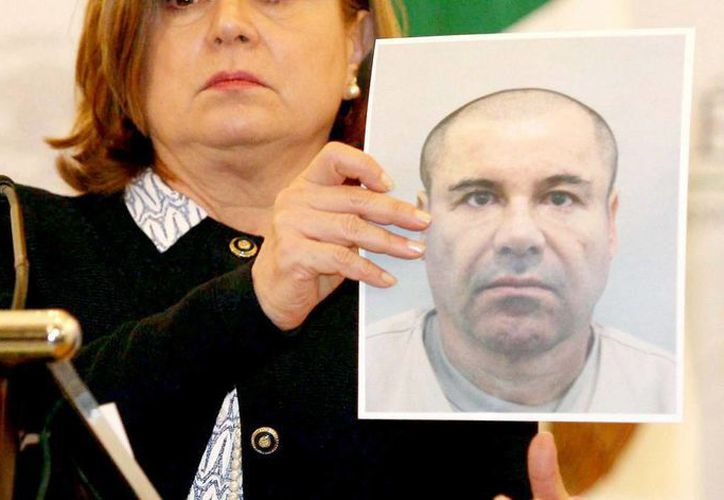 Imagen de archivo, en la que se muestra una foto de 'El Chapo' Guzmán, quien fue recapturado el pasado 8 de enero en los Mochis, Sinaloa. (Archivo/Notimex)