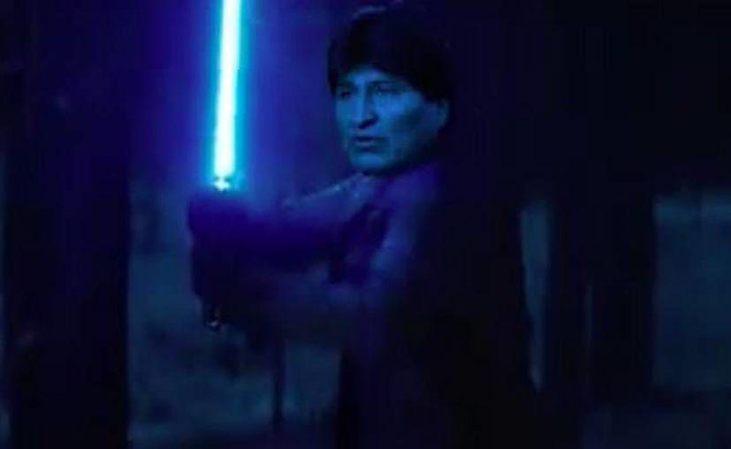 El partido del gobierno utiliza personajes de la película Star Wars en su propaganda por el  'Sí' en busca de la reelección del presidente Evo Morales en febrero de 2016. (Captura de pantalla)