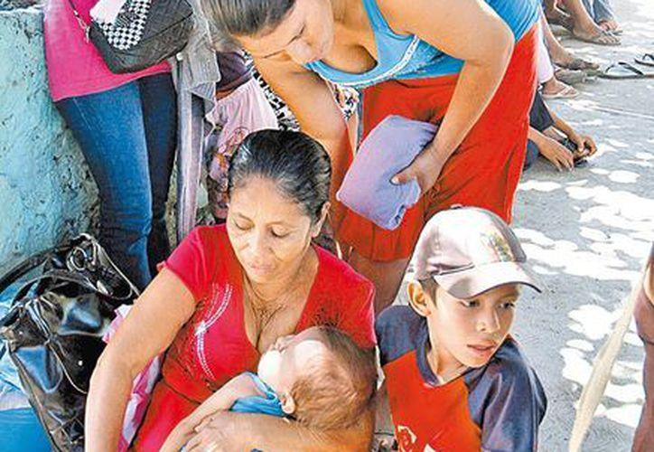 Algunos de los desplazados se refugiaron en Huautla. (Milenio)