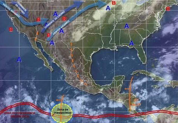 Los vientos serán de 8 kilómetros por hora en Chetumal. (Conagua)