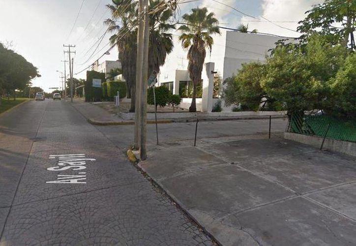 Los disparos se realizaron en la esquina de la Bonampak con Sayil. (Eric Galindo/SIPSE)