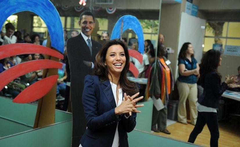 Eva Longoria fue anfitriona de una gala de bienvenida al Presidente. (Archivo/Agencias)