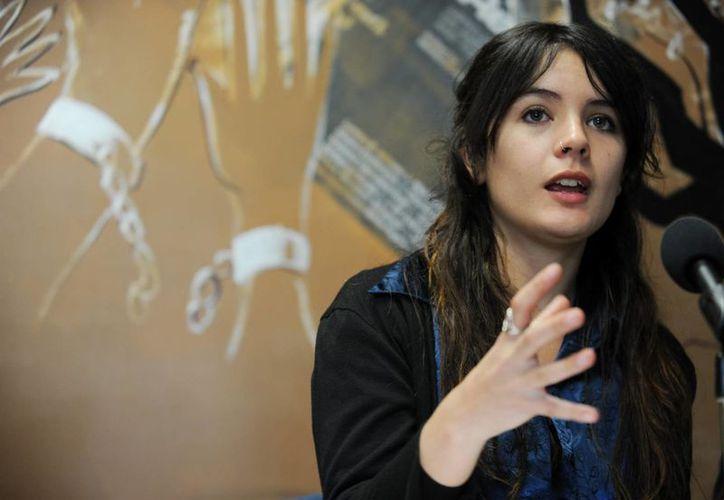 Camila Vallejo, expresidenta de la Federación de Estudiantes de la Universidad de Chile (FECH), se convirtió en la diputada más joven del Parlamento, a sus 25 años. (EFE/Archivo)
