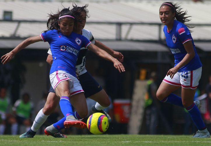 La felinas derrotaron 3-0 al Cruz Azul Femenil. (Foto: JamMedia)