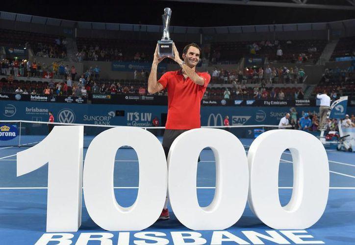 La de Brisbane es la victoria número mil de la carrera de Federer. (EFE)