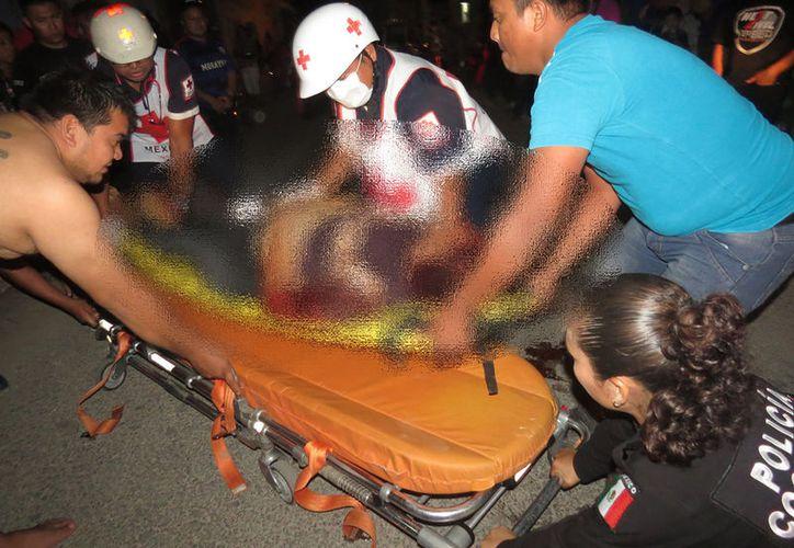 Imagen del accidente ocurrido la noche del pasado domingo en Ticul. (SIPSE)